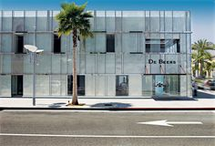 De Beers store in LA. Took a spin off this double layer facade... but with transparent and fritted glass.