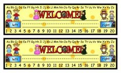 These desk tags have a place for you to write the student's name, an alphabet, a number line, and right and left notations. They are printed two pe...