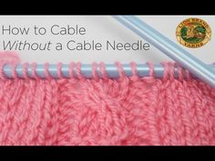 How to Cable Without a Cable Needle Video Tutorial