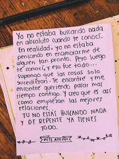 Cartas y frases para enamorar Love Phrases, Love Words, Amor Quotes, Love Quotes, Poetry Quotes, Inspiring Quotes, Frases Love, Tumblr Love, Love Text