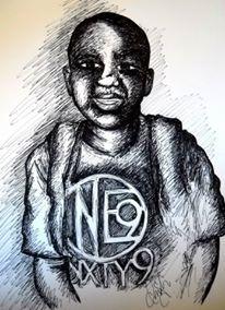 """For Cameron"" Drawing 2015 - Drawing by indiaSheana www.indiaSheana.com"