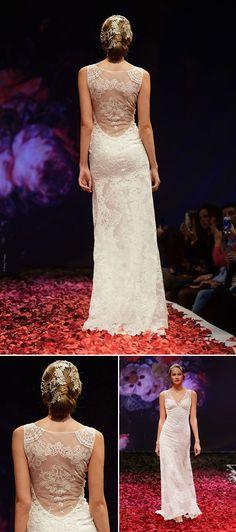 wedding dress trends – wedding dresses with beautiful backs from fall 2014 bridal market | via junebugweddings.com