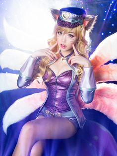 Here's an Ahri cosplay by Tomia for reaching 20K follower Milestone!
