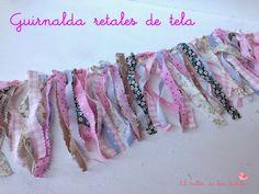 EL TALLER DE LOS DULCES: ♥ Guirnalda de retales de tela sin costura