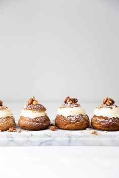 Praline Cream Puffs - Beyond Our Sky Profiteroles, Eclairs, Paris Brest, Choux Pastry, Pastry Cake, Cannoli, Biscuits, Cream Puff Recipe, Creme Puff
