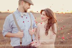 I heart the suspenders, newsboy cap, and lace dress!