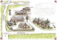 Gruene Cottages Map