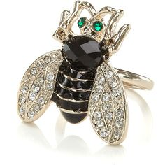 Bee Ring ($18) ❤ liked on Polyvore
