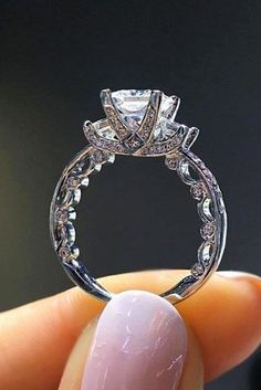 18 White Gold Engagement Rings To Conquer Your Love ❤ white gold engagement rings unique band cathedral ring diamonds ❤ More on the blog: https://ohsoperfectproposal.com/white-gold-engagement-rings/