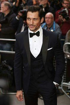 VERY PROUD DAVID GANDY AFTER RECEIVING THE HONER OF MOST STYLISH MAN IN BRITISH GQ