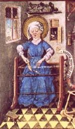 Image of Medieval card weaving