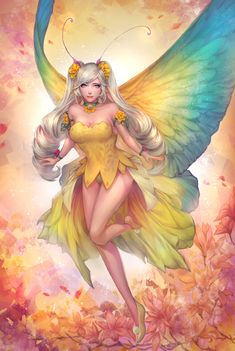 Freedom of fly by EdenChang on DeviantArt Anime Fantasy, Fantasy Girl, Fantasy Fairies, Pet Anime, Fairy Pictures, Fairy Coloring, Butterfly Fairy, Beautiful Fairies, Angel Art