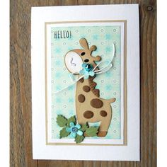 Marianne Design Collectables Cutting Dies & Clear Stamp - Eline's Giraffe COL1386 | Buddly Crafts