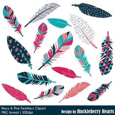 Check out our feather clip art selection for the very best in unique or custom, handmade pieces from our craft supplies & tools shops. Arrow Tattoos, Leg Tattoos, Cool Tattoos, Clipart, Pink Feathers, Blue Feather, Fabric Feathers, Feather Clip Art, Feather Vector