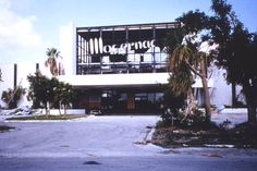 Building damaged during Hurricane Andrew in Dade County, Florida. (Not far from my home.)