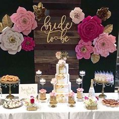 Thank you to the beautiful ROSE for choosing my flowers to be a part of your special day! Can't wait for your wedding backdrop  Cake: @armen_roobinascake Cake Pops: @kayspops #merci #thankyou #bridetobe #bridalshower #engagement #engagementparty #paperflowers #paperflowerwall #paperflowerbackdrop #backdrop #floresdepapel #love #amor  #floresgigantes #paineldeflores #catchmyparty #madewithmichaels