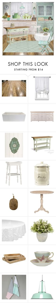 """""""Shabby Chic Kitchen"""" by ollie-and-me ❤ liked on Polyvore featuring interior, interiors, interior design, home, home decor, interior decorating, Clayton, Room Essentials, Somette and BYRON"""