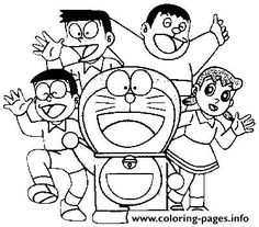 Print all characters doraemon s74be coloring pages