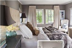 Moody gray bedroom