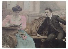 Antique+French+Postcard++Edwardian+Couple+'A+by+ChicEtChoc+on+Etsy,+$4.50