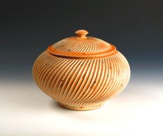 Mark Williams fluted lidded canister.