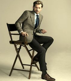 Tweed jacket, trousers, shoes