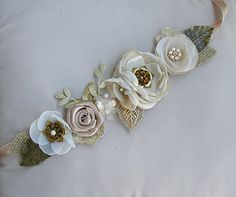 Rustic Gold Wedding Sash  Burlap Bridal Sash  Rustic by FloroMondo