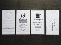 embossed bus cards