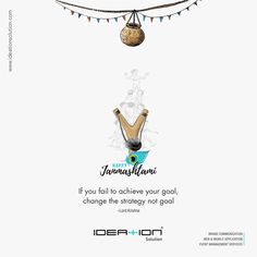 If you fail to achieve your goal, change the strategy not goal Happy Janmashtami Ads Creative, Creative Posters, Creative Advertising, Janmashtami Wishes, Happy Janmashtami, Krishna Janmashtami, Diwali Wishes, Best Lyrics Quotes, Banner Background Images