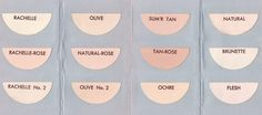 Max Factor - Livrets - 'Color Harmony Shades Chart' Poudres - 1939