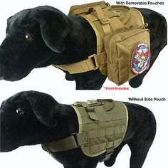 Tactical Dog K9 Training  Molle Compact Vest Harness (5 Colors)