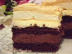 Delicious Cake Recipes, Yummy Cakes, Sweet Recipes, Sweet Cooking, Different Cakes, Polish Recipes, Food Cakes, Sweet Cakes, Relleno