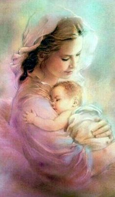 Mother Mary and Baby Jesus Mama Mary, Religious Pictures, Jesus Pictures, Blessed Mother Mary, Blessed Virgin Mary, Catholic Art, Religious Art, Queen Of Heaven, Mary And Jesus