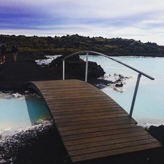 Enjoy a peaceful and scenic walk around the lava and the Blue Lagoon! #BlueLagoon #Iceland - Photo by @warndel