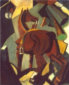 Saddled horse - Mario Sironi