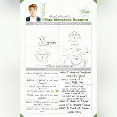 [ENG TRANS] Rap Monster's Resume (Part: 3/5)~ 2017 BTS FESTA Day 11! Just like bangtan I love to make people suffer.. lol I'm kidding I fell asleep while translating and when I woke up I checked my phone and wow you writ a bunch of nonsense me so I started again haha~ ❤ #BTS #방탄소년단