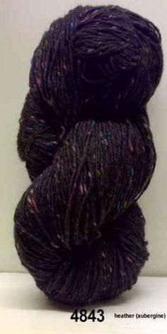 Aran Tweed Yarn (Heather/Aubergine) Irish Donegal Kilcarra Wool