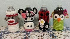 Animal Water Bottle Cozies  These are just adorable!