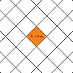 One size tile pattern. Found at SouthCypress.com #tilepattern #square #diamond #tile