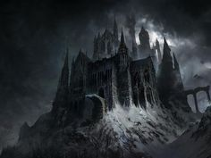 Evil Castle Dark Fantasy Laptop Full HD Wallpaper, HD Fantasy Wallpapers, Images, Photos and Background Snow Castle, Dark Castle, Gothic Castle, Fantasy Castle, Castle Illustration, Fantasy Illustration, Fantasy Art Landscapes, Fantasy Landscape, Fantasy Places