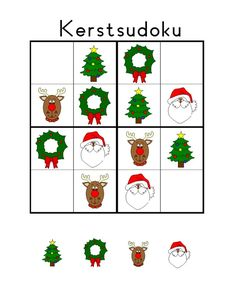 Free children's sudoku puzzle templates with Christmas images. Christmas Countdown Crafts, Christmas Math, Noel Christmas, Christmas Activities, Xmas, Sudoku Puzzles, Coding For Kids, Theme Noel, Kids Playing