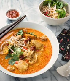 laksa noodle soup - spicy malaysian curry coconut soup - glebe kitchen