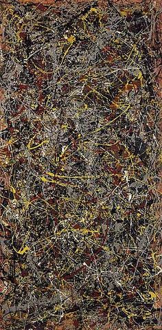"""Number 5, apparently the definitive work of Jackson Pollock, """"Jack the Dripper""""."""