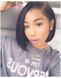 Black Women Short Hairstyles, Bob Hairstyles With Bangs, Short Bob Haircuts, Short Hair Cuts, Natural Hairstyles, Black Hair Short Bob, Sew In Bob Hairstyles, Weave Bob Hairstyles, Office Hairstyles