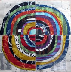 Recycled Circles in progress by janelafazio, via Flickr
