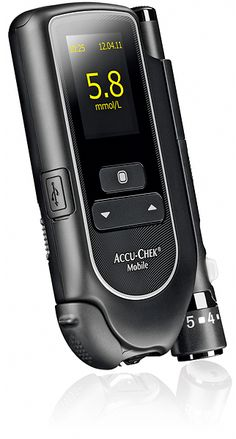Accucheck  elements: industrial look, backlit black controls, black/gray/metal/color scheme