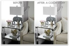 Easiest Steps to edit brighter interior shots for Instagram | Before and after | A Color Story | Classy Glam Living