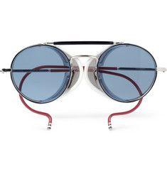 Thom BrowneRound-Frame Metal Sunglasses