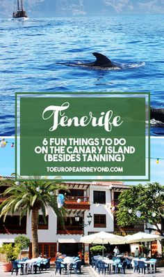 A list of things to do in #Tenerife that doesn't involve lying on a beach.
