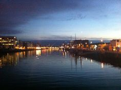 Dublin at night Dublin, New York Skyline, Ireland, Night, Places, Travel, Lugares, Viajes, Destinations